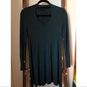 Long sleeve keyhole dress